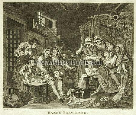 William Hogarth, Im Schuldturm (Cook klein)