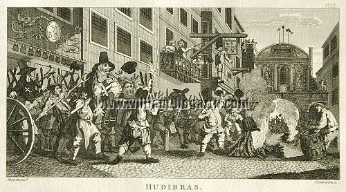William Hogarth, Burning the Rumps at Temple Bar (Hudibras XI) (Cook klein)