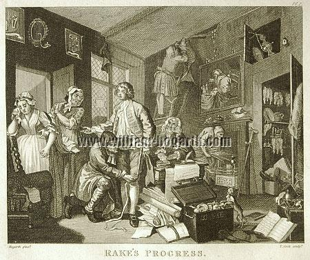 William Hogarth, Erbschaft (Cook klein)