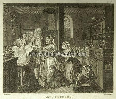 William Hogarth, Rakewell marries an Old Maid (Cook small)