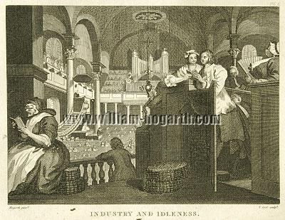 William Hogarth, Industry + Idleness II