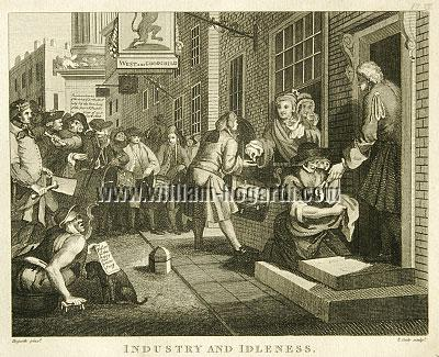 William Hogarth, Industry + Idleness VI