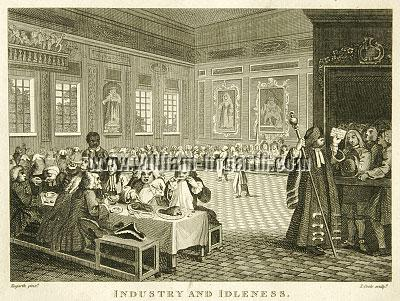 William Hogarth, Industry + Idleness VIII