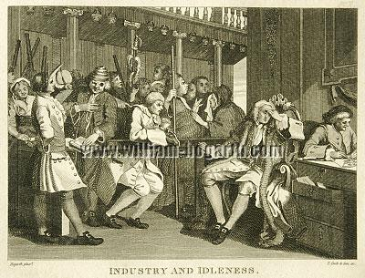 William Hogarth, Tom Idle at the Police Court (Cook small)