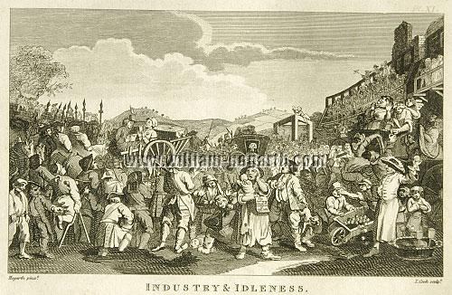 William Hogarth, Industry + Idleness XI