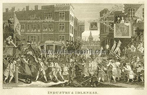 William Hogarth, Industry + Idleness XII