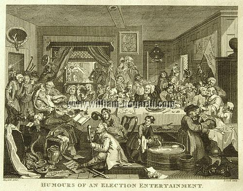 William Hogarth, The Election I