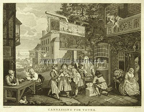 William Hogarth, Die Wahl (Blatt II)