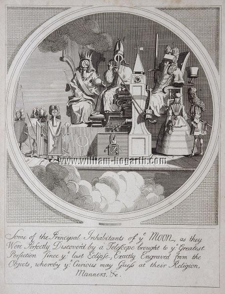 William Hogarth, Some of the Principal Inhabitants of the Moon (Cook)
