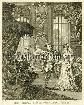 William Hogarth, Henry VIII and Anna Buleyn (Cook small)