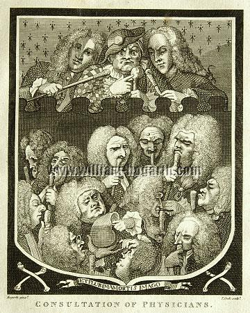 William Hogarth, Consultation of Physicians (Arms of the Undertakers)