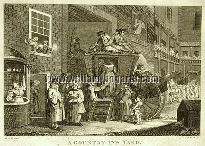 William Hogarth, Country Inn Yard (Cook klein)