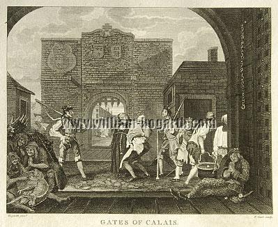William Hogarth, Gates of Calais (Cook small)