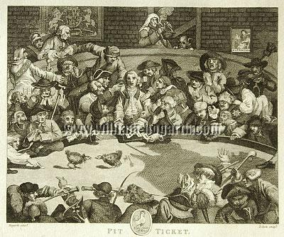 William Hogarth, Pit Ticket (Cook small)