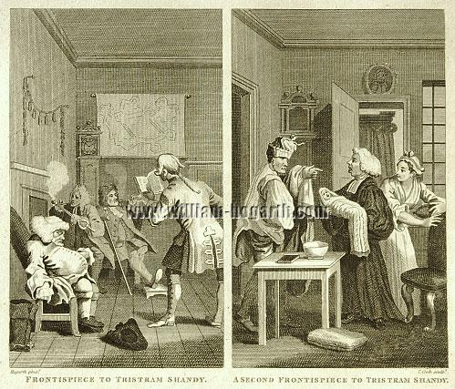 William Hogarth, Two Frontispieces zu Sternes' Tristram Shandy