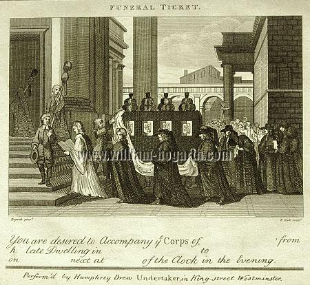 William Hogarth, Funeral Ticket