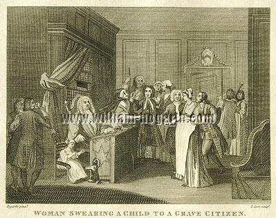 William Hogarth, Woman Swearing her Child to a Grave Citizen (Cook small)