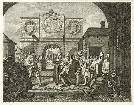 William Hogarth, The Gate of Calais (Roast Beef of Old England; Riepenhausen)