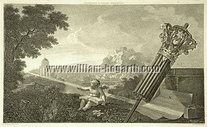 William Hogarth, Frontispiece to (Dr. Brook) Taylor's Perspective