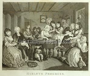 William Hogarth, Trauergesellschaft (Harlot VI)